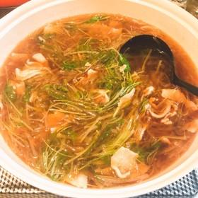 大根×水菜×豚バラ肉の超簡単和風鍋♡*゜