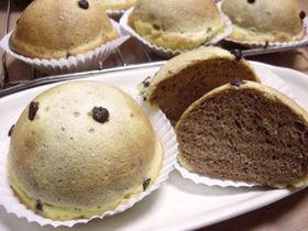 ココア生地のチョコチップクッキーパン