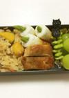 ⑰市販の素を食べ比べ☆ 栗ご飯弁当