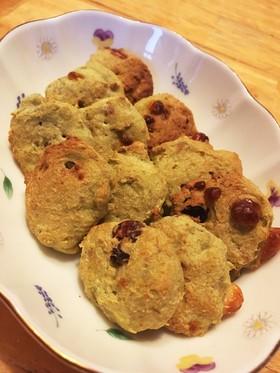 ノンオイル バナナと青汁のおからクッキー