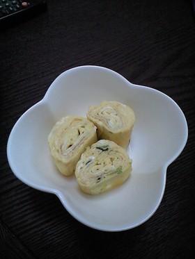 松茸のお吸い物で簡単ダシ巻き卵。
