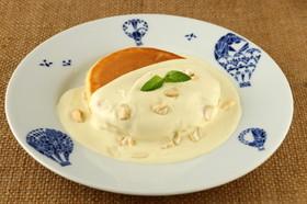 青汁で!トロピカルクリームパンケーキ