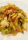胡瓜とレタスのコチュジャン辛味サラダ