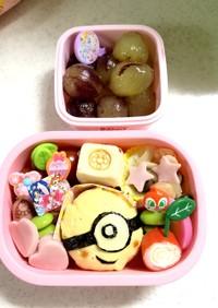 3歳児 バス遠足 ミニオン弁当