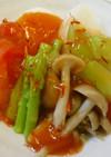漢方医 薬膳!五色野菜の紅花ソースかけ