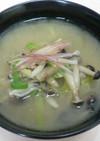 サバ水煮缶と野菜の味噌汁