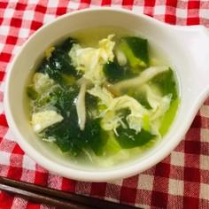 小松菜ときのこ♪中華風たまごスープ♡