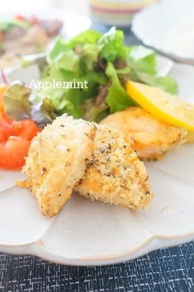 生秋鮭のフライバジル風味