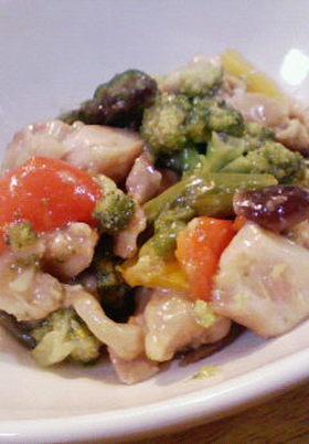 鶏肉の野菜たっぷり照り焼き