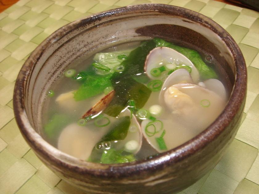 旨味たっぷり♪あさりのスープ