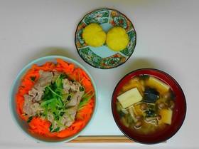 三色丼献立(調理実習2)