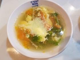 簡単!水菜とトマトのコンソメスープ!