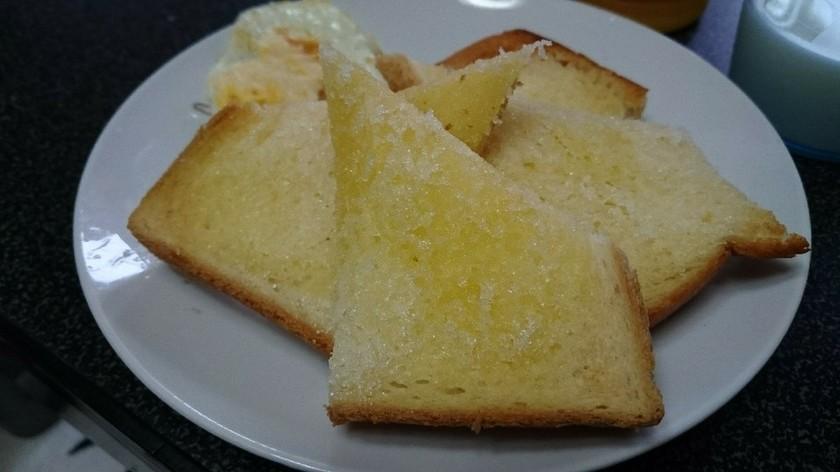 トースト☆食べやすい切り方