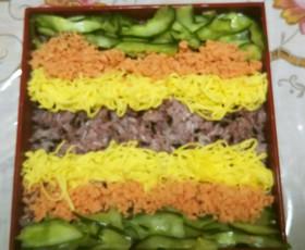 乗せただけの黒米寿司