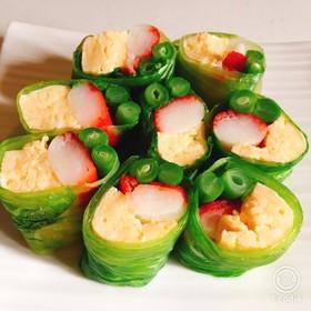 お洒落な彩りレタスサラダ