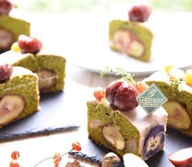 抹茶と栗の渋皮煮のパウンドケーキ☆