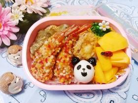 キャラ弁☆うずらの卵でかわいいパンダ