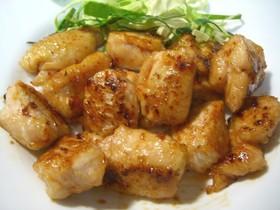 鶏胸肉の❤ふんわりチリマヨポン酢照り焼き