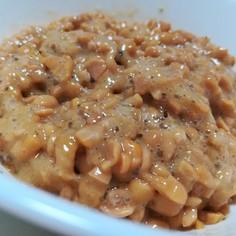 ☆チューブで簡単梅しそワサビ納豆☆