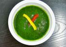 夏野菜の冷製グリーンスープ