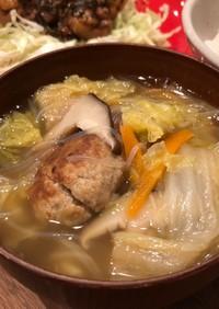 肉団子と白菜の中華スープ