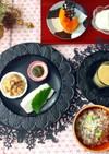 アスパラスープと和総菜 低糖質な朝食