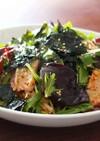 キクラゲとタコのキムチサラダ