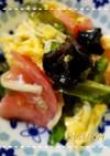 四角豆入りトマタマ炒め