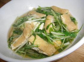 柚子胡椒風味☆水菜と油揚げの煮浸し