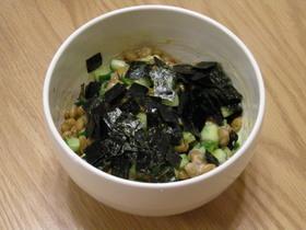 きゅうり納豆