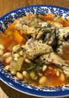 圧力鍋で☆鶏と大豆のトマトスープ〜無化調