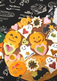 【ハロウィン】ステンドグラスクッキー♪