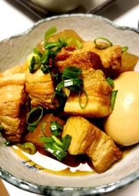 大根と豚バラブロック肉の煮物