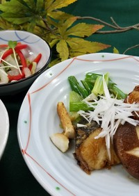 ぶりの中華風照り焼き(腎臓病食)