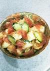 ゴロゴロのポテトと生ハムのサラダ
