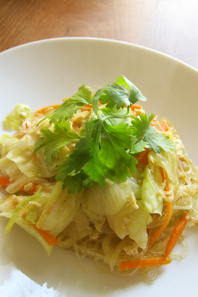 創作タイ料理 春雨のグリーンカレー炒め