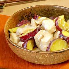 レンジで♪鶏胸肉とさつま芋のチーズ味噌煮