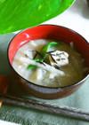 味噌汁 高野豆腐+大根+ひじき