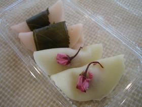 桜あんの桜餅(関東風)