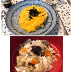 炊き込みご飯リメイク 2バージョン