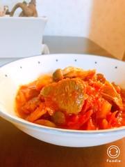 牛タン(orラム肉)のトマト煮込みの写真