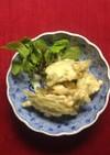 簡単さつまいも茎の天ぷら