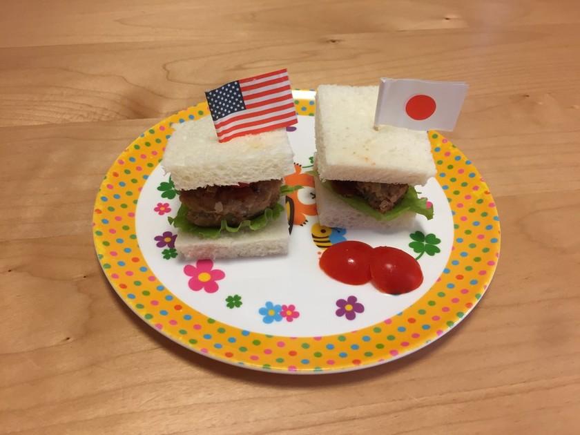 ミニハンバーガー☆食パンで♬