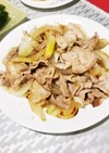 豚バラスライスと玉ねぎのほんだし炒め