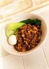 簡単エバラ坦々ごま鍋の素で汁なし坦々麺