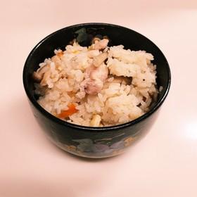 簡単!美味しい☆わが家の鶏肉炊き込みご飯