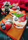 クリスマスに☆簡単ネイキッドケーキ。