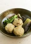 鶏団子と茄子の煮物(権太呂だし使用)