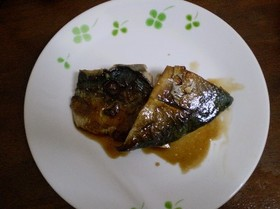 サバの黒酢焼き。