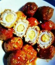 豆腐でかさまし!ふわふわ!お月見肉団子の写真